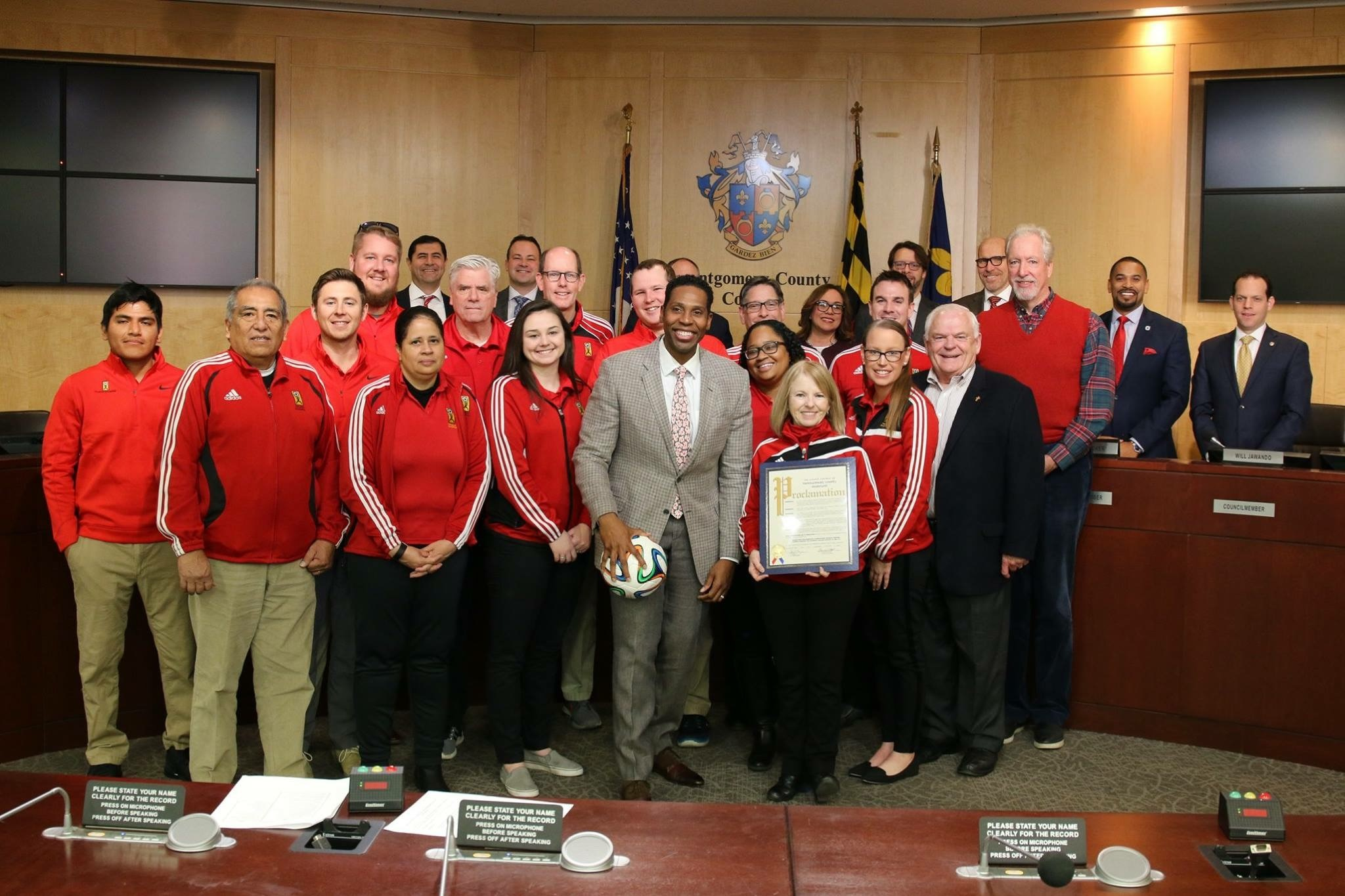 Maryland SoccerPlex honored by Councilmember Craig Rice with Proclamation