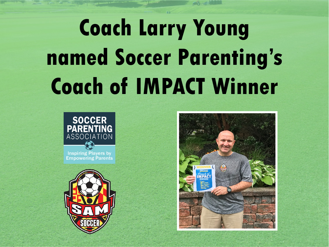 SAM Coach wins Soccer Parenting Coach of IMPACT Award